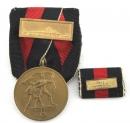 二戰德軍捷克進駐獎章單連勳排 + 首都布拉格進駐勳飾以及勳表