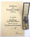 納粹德國 金級大母親勳章包含授獎證書和盒裝