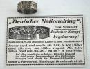 [已售出 SOLD] 一戰時期德國愛國戒指,純銀800