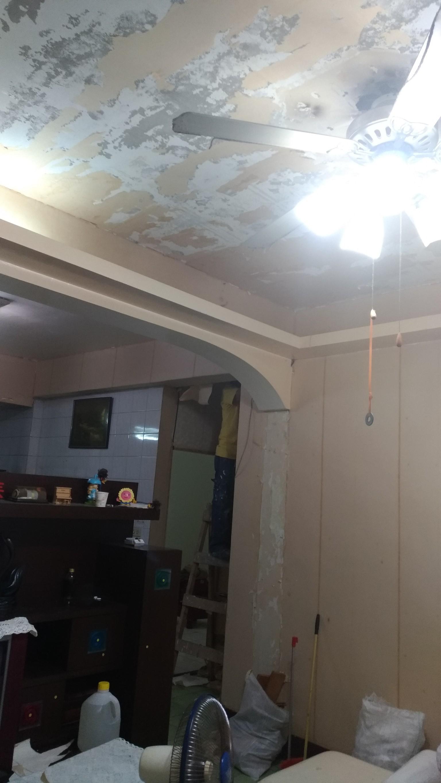 新北市板橋大觀路壁紙拆除,全室油漆粉刷,地磚磁磚修補 (41)