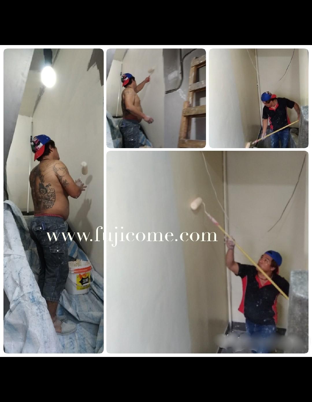 新北市樓梯間室內油漆粉刷 (2)
