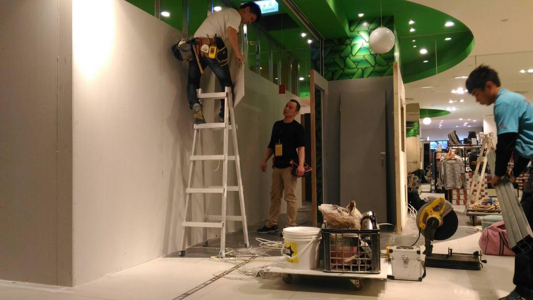 台北市百貨專櫃油漆粉刷木工裝潢