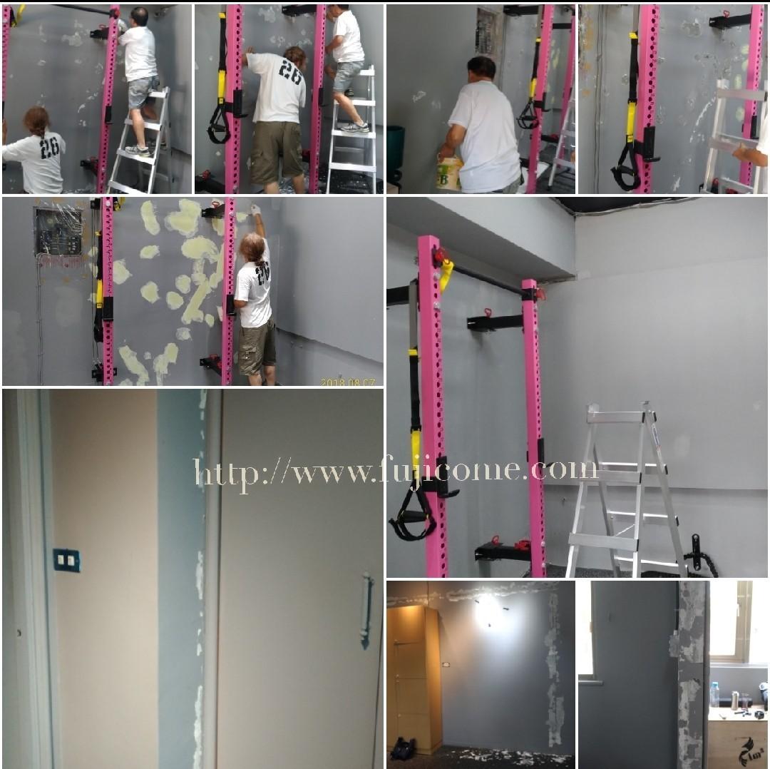 台北市健身房油漆剝落修補粉刷 (1)