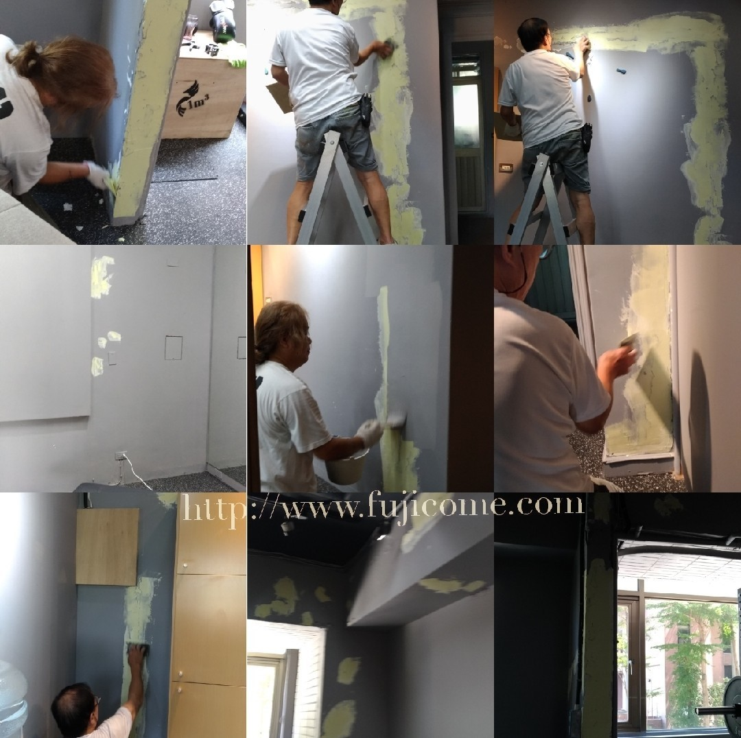 台北市健身房油漆剝落修補粉刷 (3)