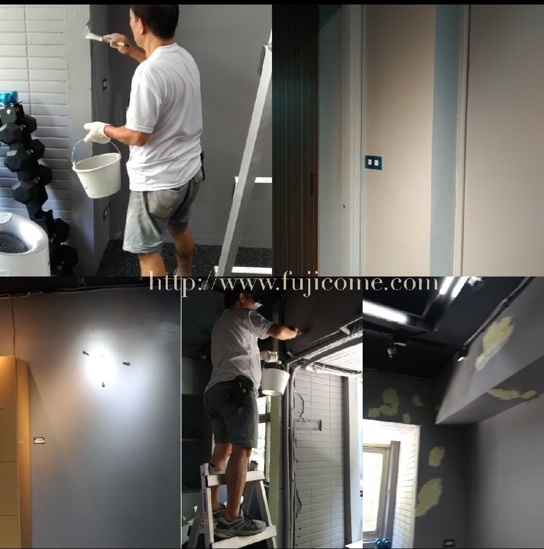 台北市健身房油漆剝落修補粉刷 (4)