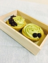 抹茶乳酪杯子蛋糕(紅豆內餡)(NT$80/2入)