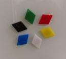 菱形強力磁鐵 使用於玻璃白板