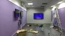 105年9月華夏技術學院併幕投影機及觸控顯示器安裝