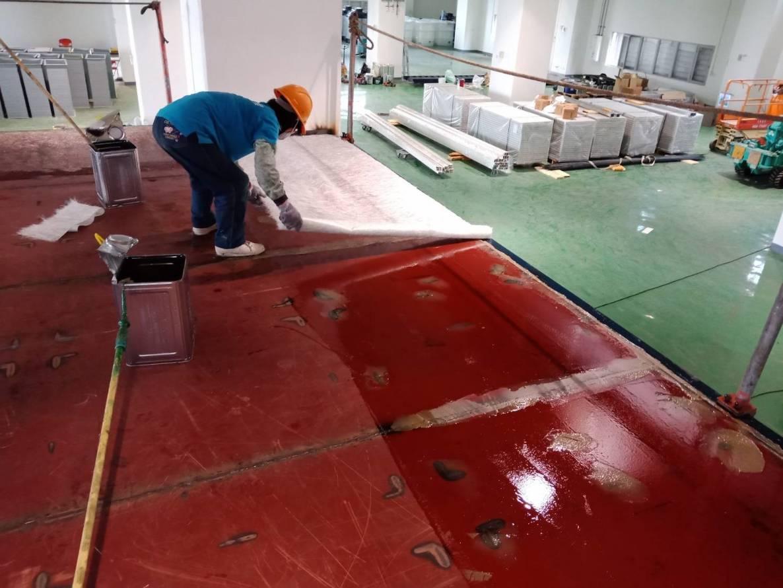某科技公司  FRP 300# 玻璃纖維施作 (打底)
