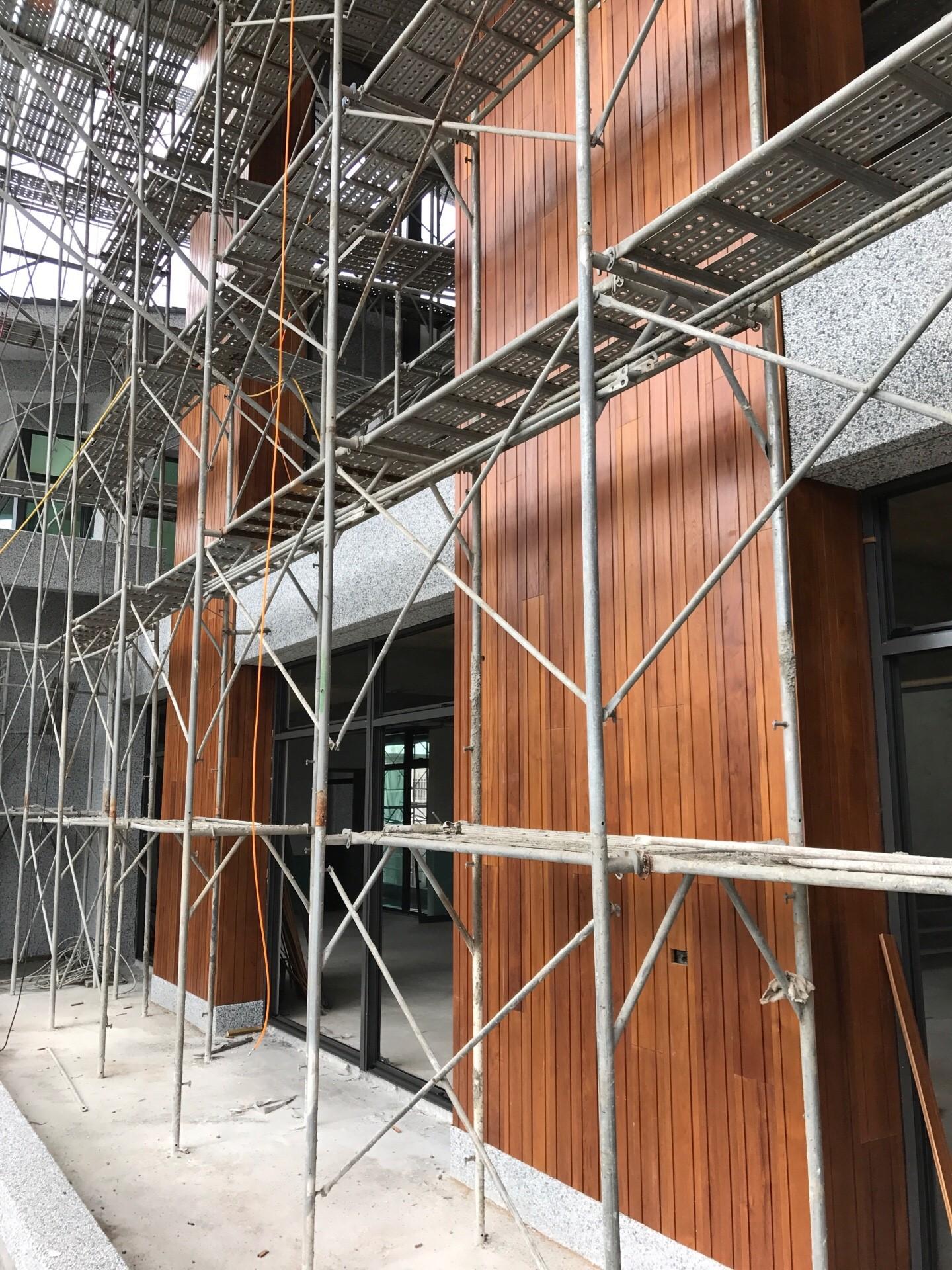 緬甸柚木實木-氣派型牆面施工