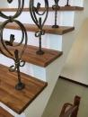 緬甸柚木實木指接拼板,樓梯板施工完成品_180331_0001