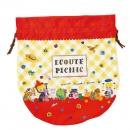 日本ECOUTE!圓形束袋(紅)B017C0140S4830892