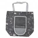 日本Anano café可收納大容量購物袋(灰)B017C0174S4830879