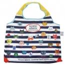 日本ECOUTE!大容量折疊購物袋(藍色線條)B017C0178S4595716