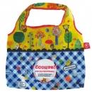 日本ECOUTE!可收納大容量購物袋(藍色格紋)B017C0182S3626424