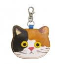 日本ECOUTE!貓咪鑰匙圈皮革小錢包B017C0211S5660926