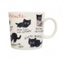 日本ECOUTE!黑貓陶瓷杯B017C0227S5571695