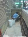 台南防水施做-牆角鋪設不織布