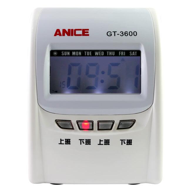 ANICE GT3600四欄位電子打卡鐘