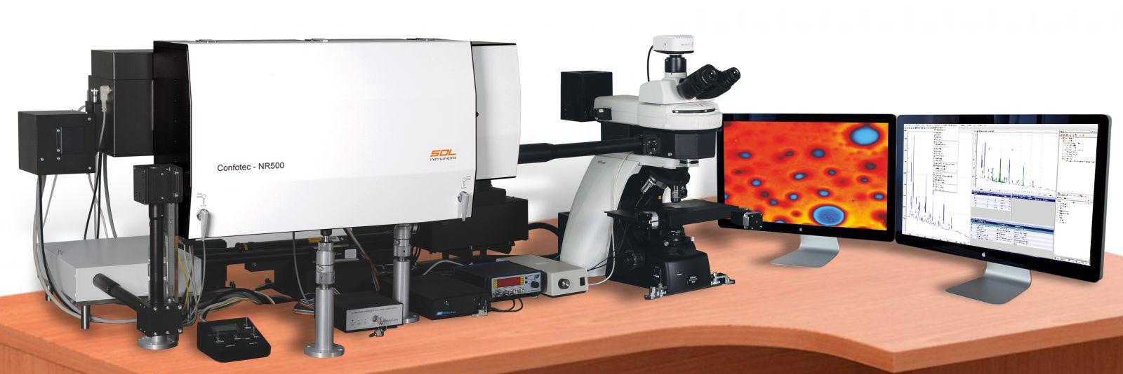 Confotec NR500 - 3D 掃描雷射拉曼共軛焦顯微鏡 3D Scanning Laser Raman Confocal Microscope Confotec® series NR500