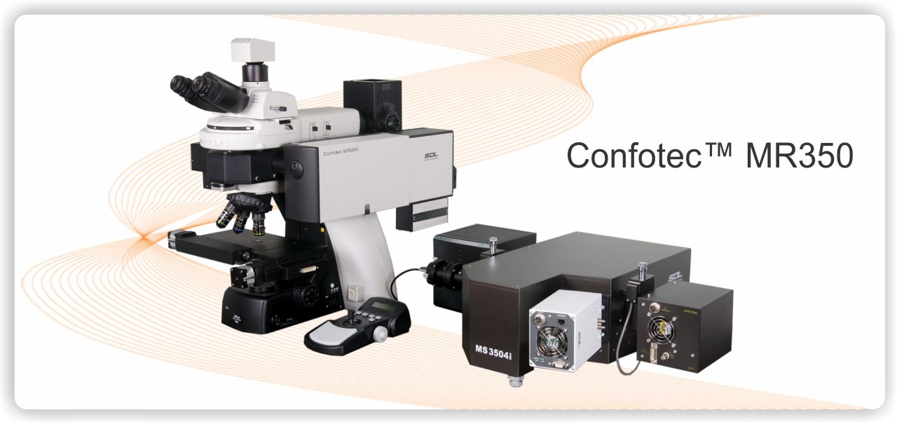 Confotec MR350, MR520, MR750 - 3D 掃描雷射拉曼共軛焦顯微鏡 3D Scanning Laser Raman Confocal Microscope Confotec® series