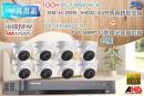 【高雄/台南/屏東監視器】海康DS-7208HQHI-K1 10CH 1080P XVR(5MP) H.265 專用錄影主機+1080P TVI HD 5MP 紅外線半球攝影機*8