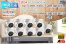 【高雄/台南/屏東監視器】海康DS-7216HQHI-K2 18CH 1080P XVR(5MP) H.265 專用錄影主機+1080P TVI HD 5MP 紅外線半球攝影機*9