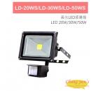 LD-20WS LD-30WS LD-50WS LED 20W 30W 50W 黃光LED感應燈