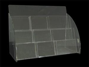 VA-A-DM-377 三層九格壓克力明信片盒(透明)