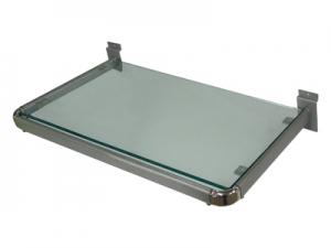 SW-040T-1透明玻璃層板架(閃銀)