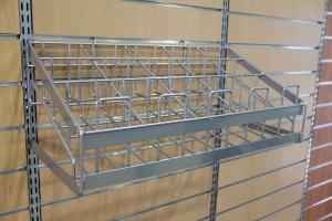 SW-310 槽板鐵線手套架 (鋁色)