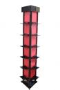 HD-063A-8 三角形6層展示架(黑框+紅瓦楞板)(含18個鞋架)