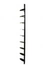 WB-9K-3B 櫥窗立柱+9個鞋架(平光黑)