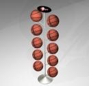 FB-E01 線圈型10顆入旋轉籃/足球架(電鍍)