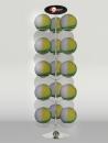 FB-E02 線圈型15顆入旋轉籃/足球架(電鍍)