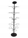 FB-F01 線圈型15顆入旋轉橄欖球架(黑色)