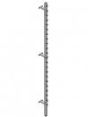 CR-2400-A  圓扣型方管立柱 / 重柱
