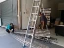 台中鐵捲門維修,台中鐵門修理,白鐵門維修,白鐵捲門門片更換安裝
