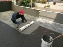 屋頂防水翻修-4.抗拉網施作