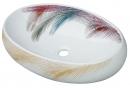 881C七彩羽毛陶瓷面盆(60cm)