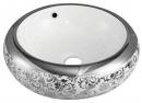 715F玫瑰花陶瓷面盆(銀)(42cm)