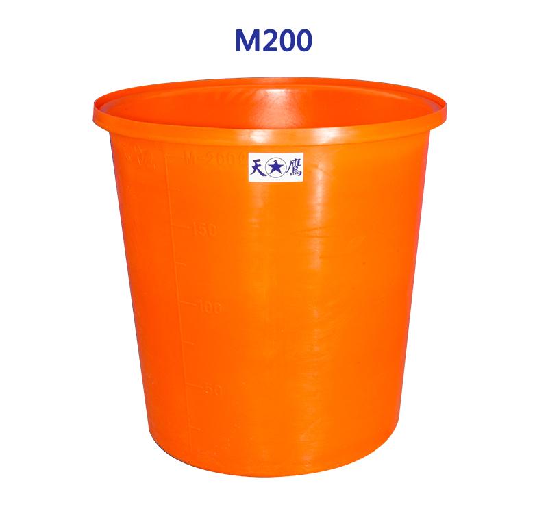M形圓形強化塑膠桶