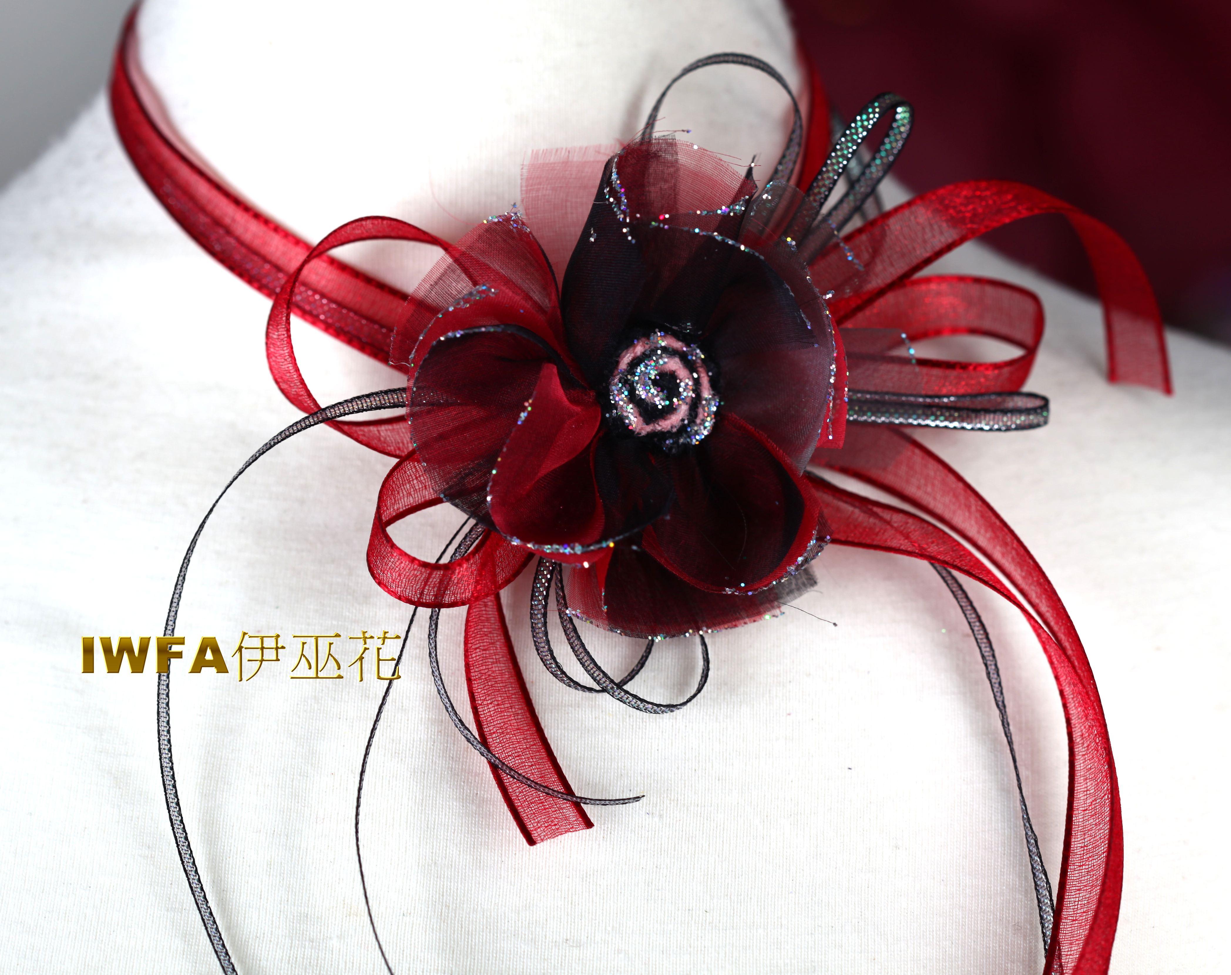 抽象向日葵  紅色+黑色