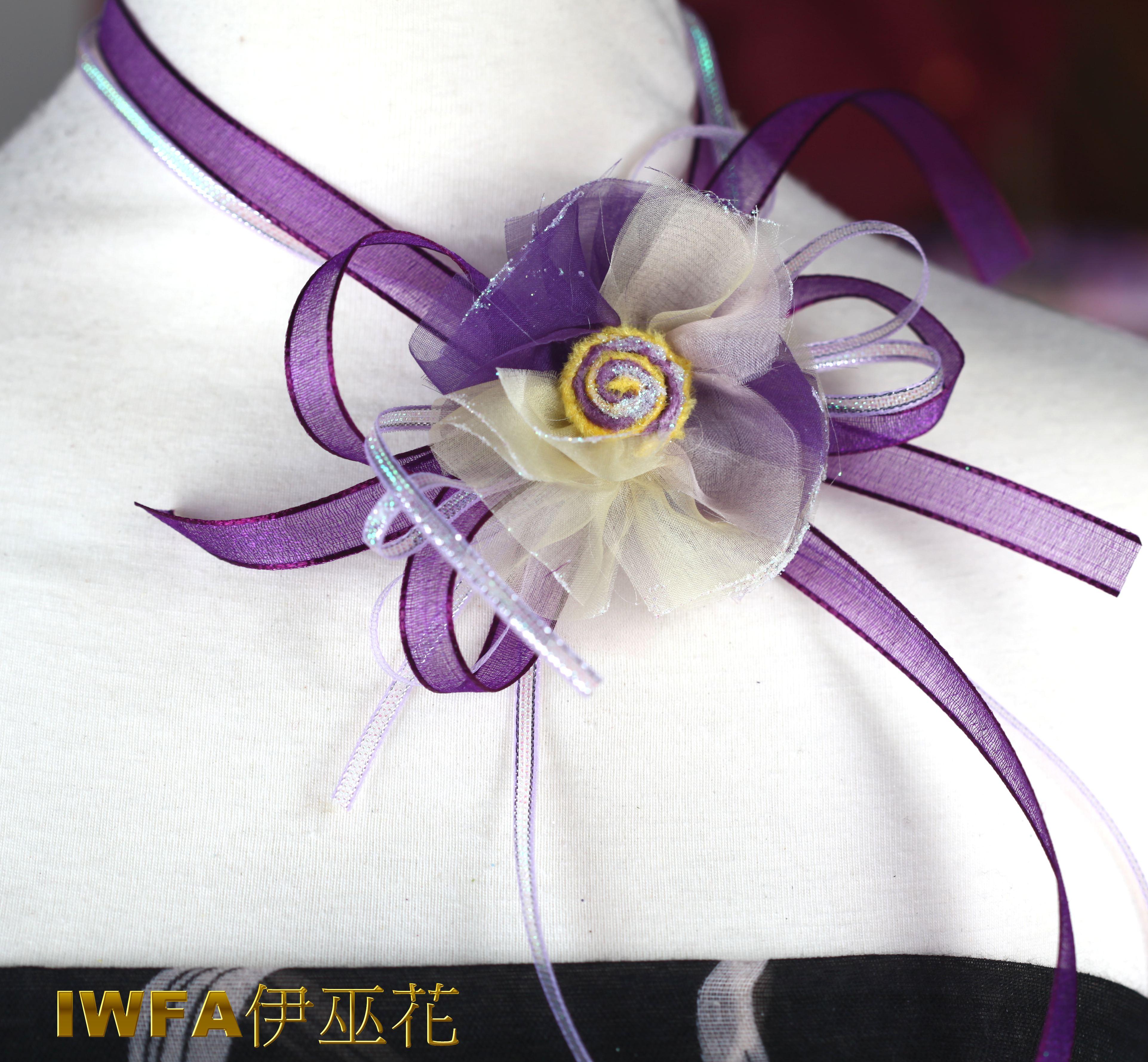 抽象向日葵 紫色+粉桃紅