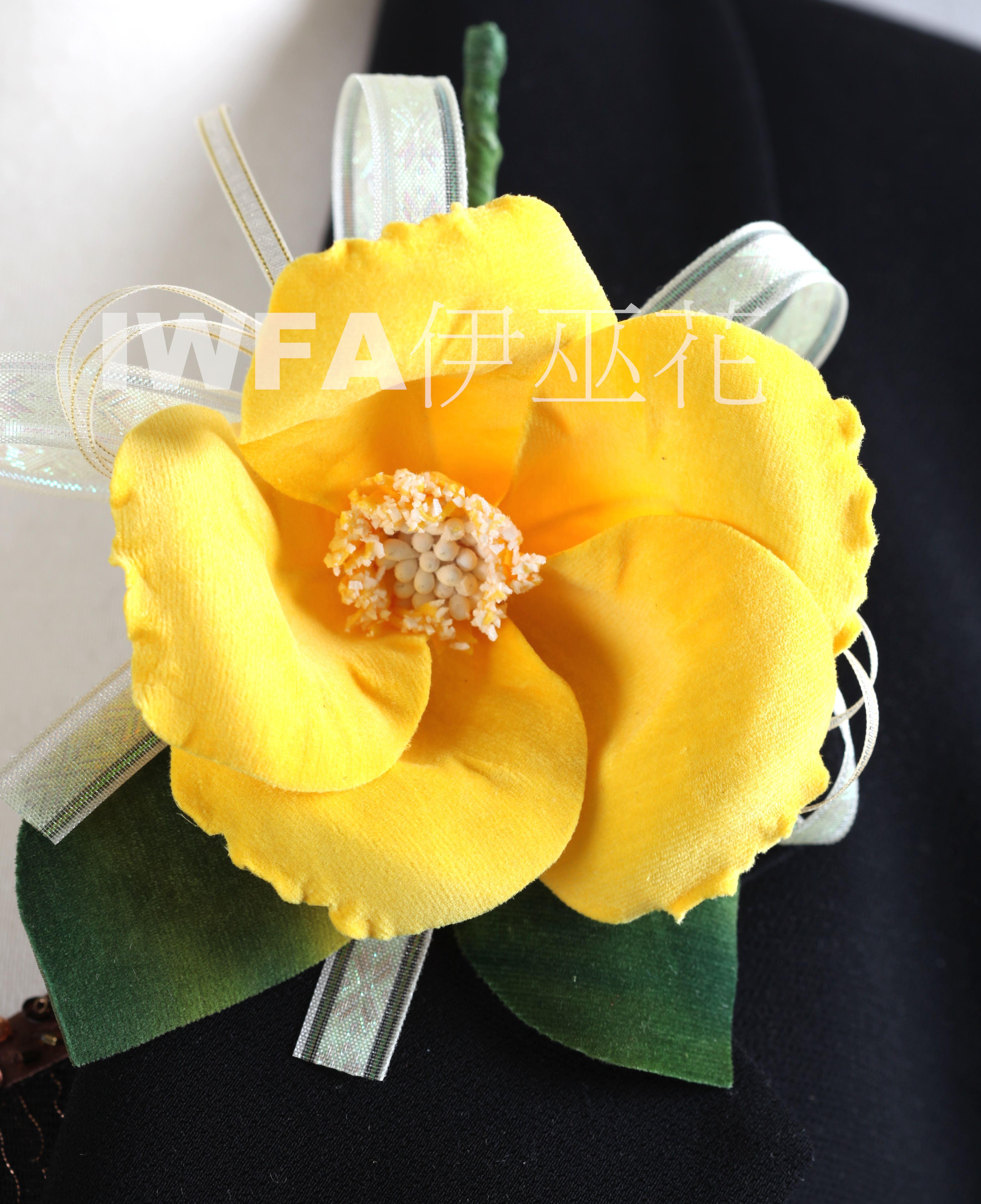 BR002-02 茶花-黃色