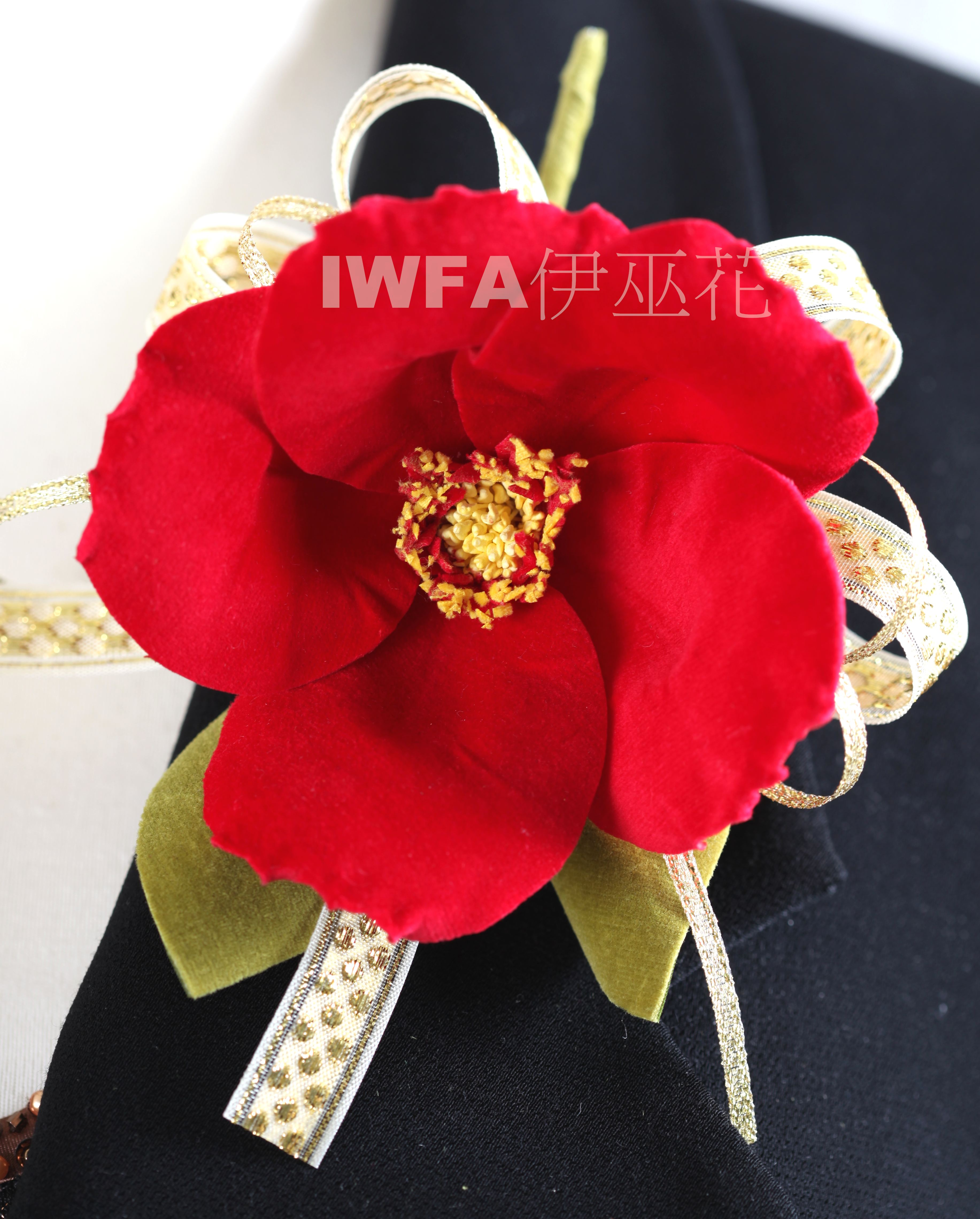 BR002-07 茶花-鮮紅色