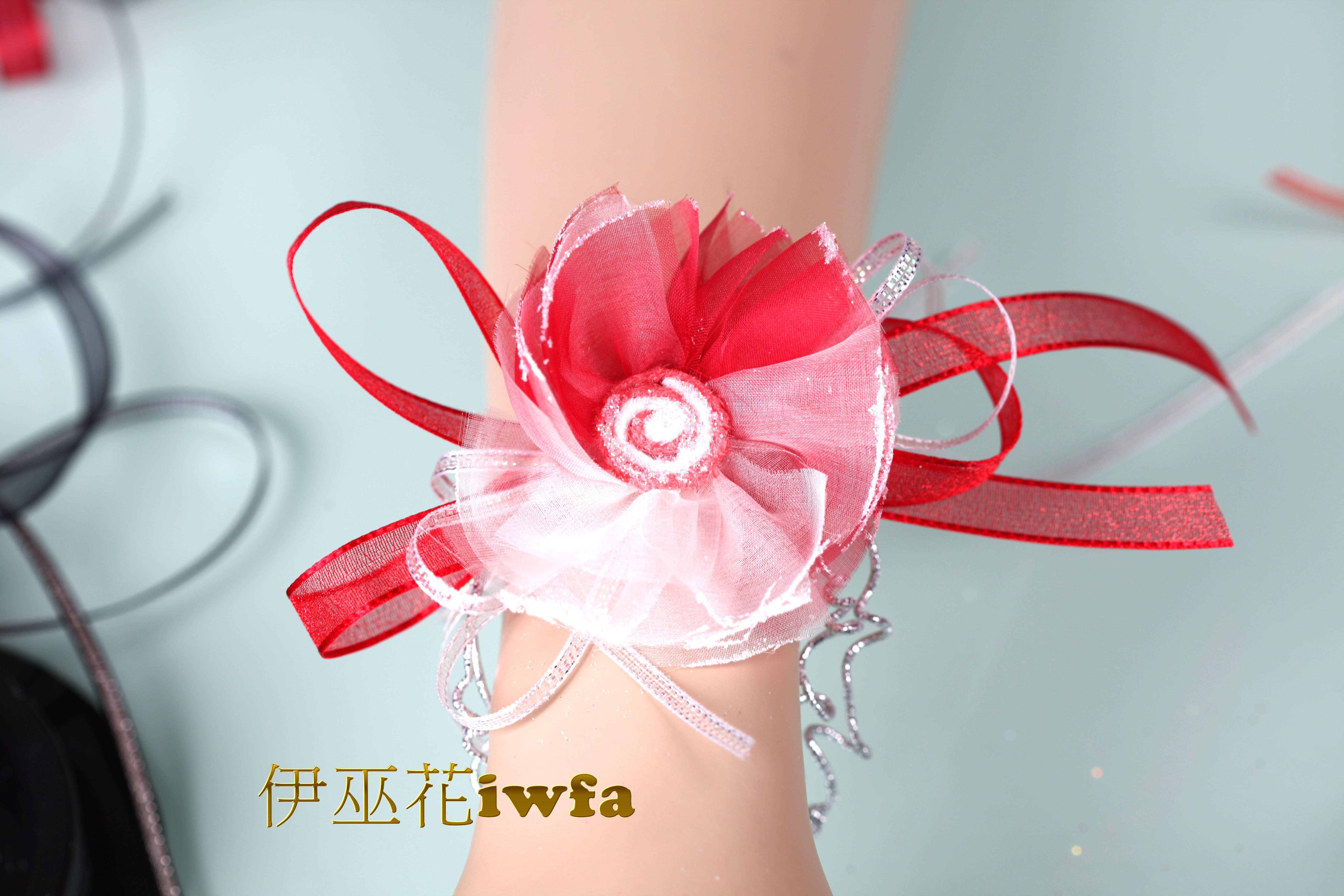 WR015-01 抽象向日葵-紅色+粉色