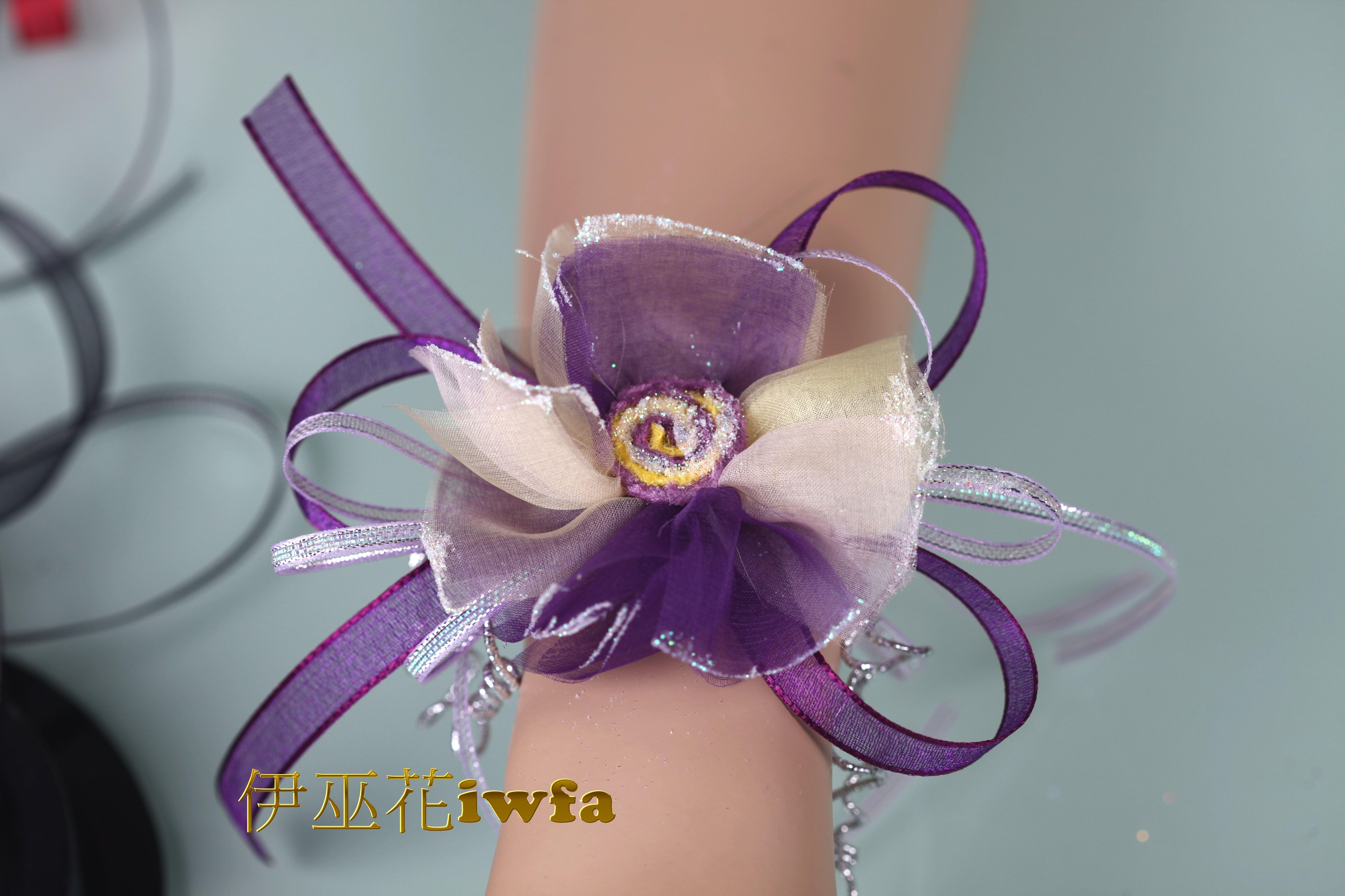 WR015-03 抽象向日葵-紫色+粉桃紅