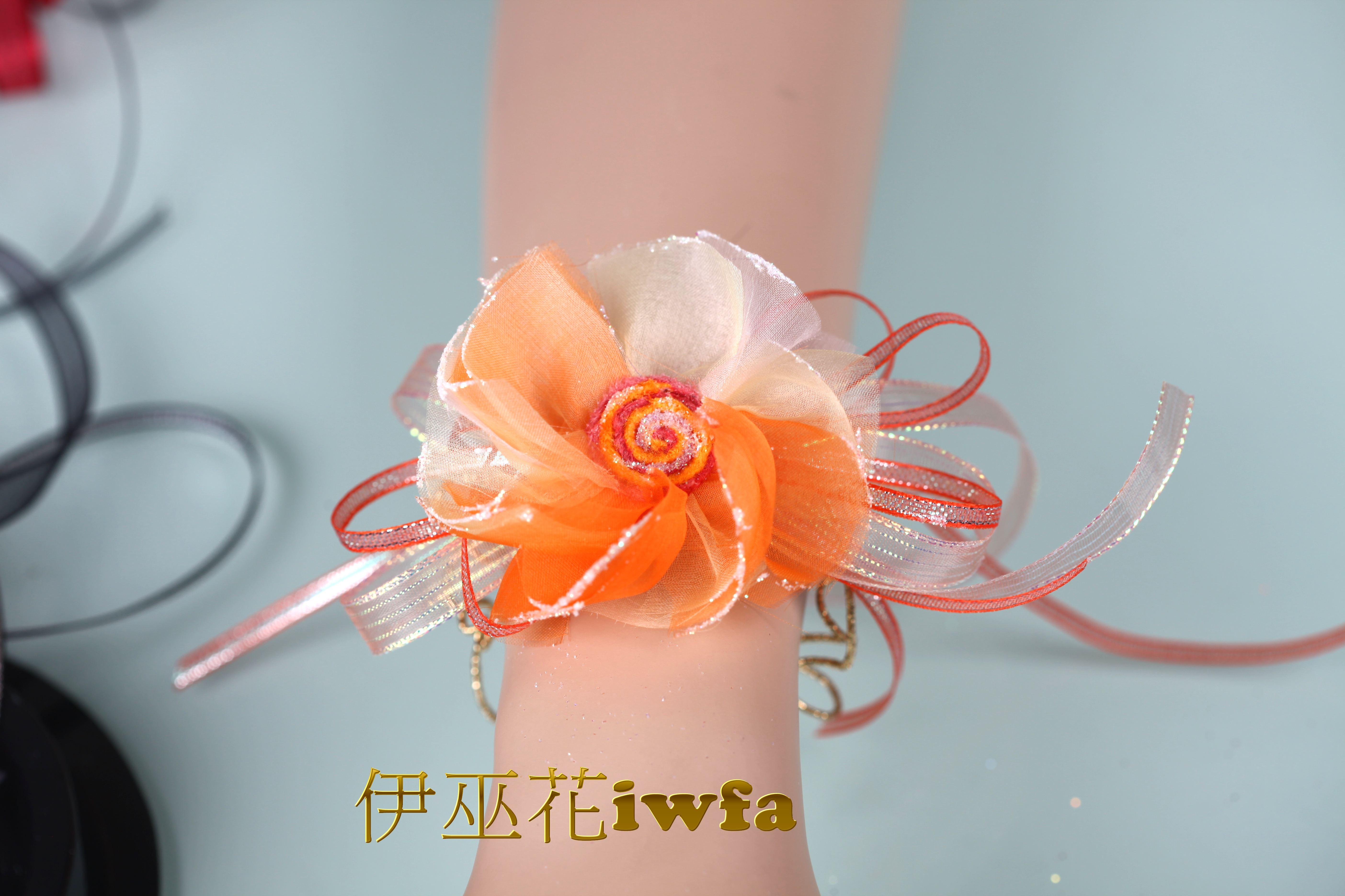 WR015-06 抽象向日葵-橙色+淡金黃