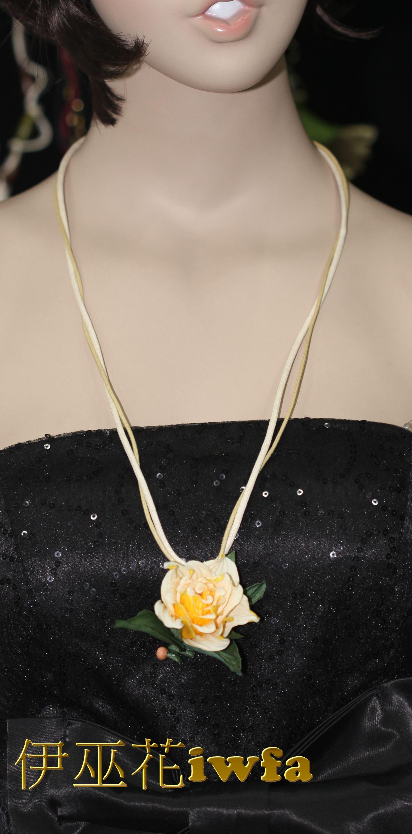 民俗風-藤蔓上的玫瑰花--黃色